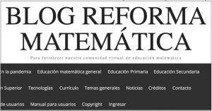 Blog Reforma Matematica