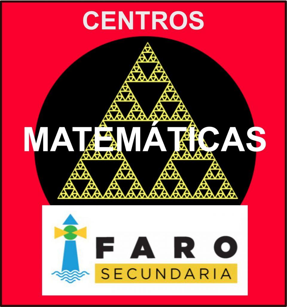 Logo Centros Matematicas FARO rojo